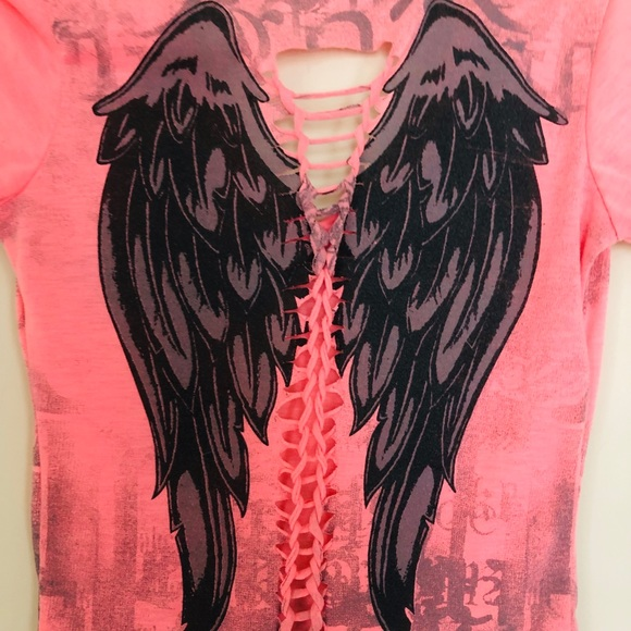 Cross Angel Wings Rocker Top Xs/Small